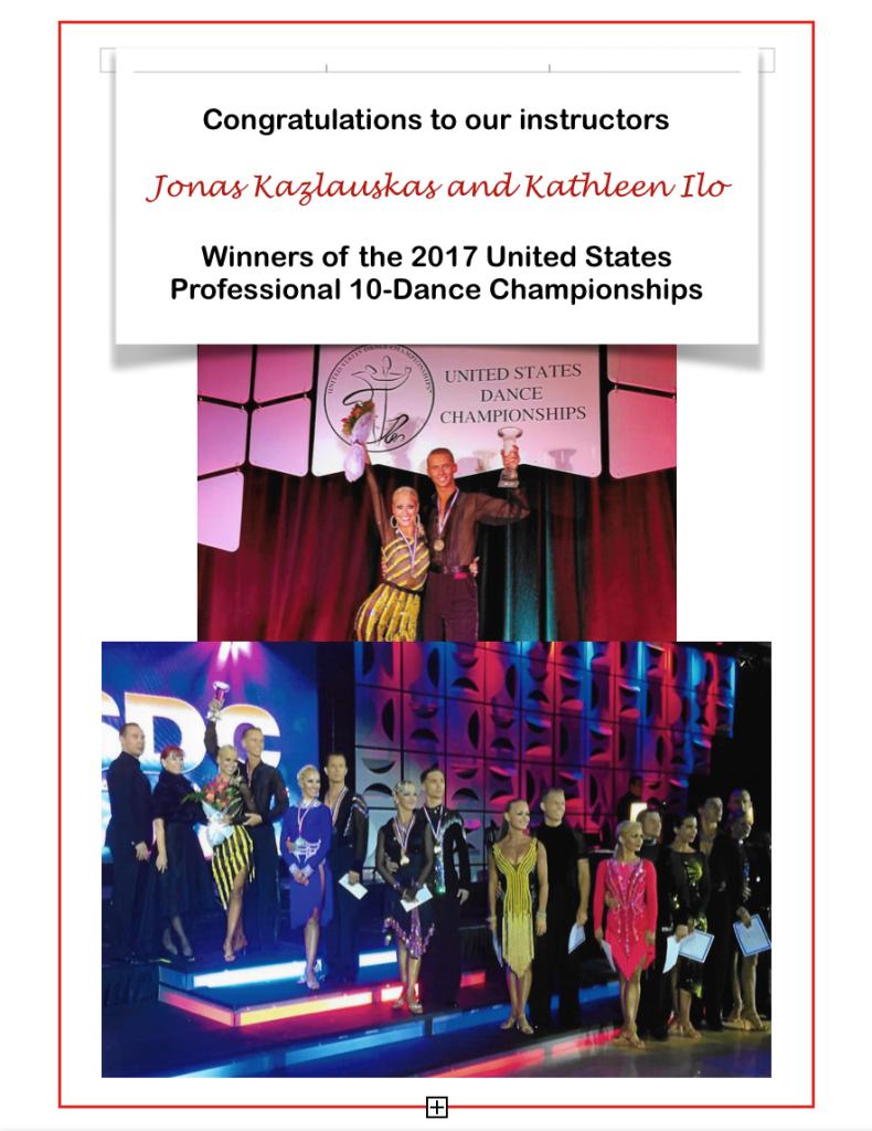 Jonas Kathleen 2017 10 Dance Champs Flyer